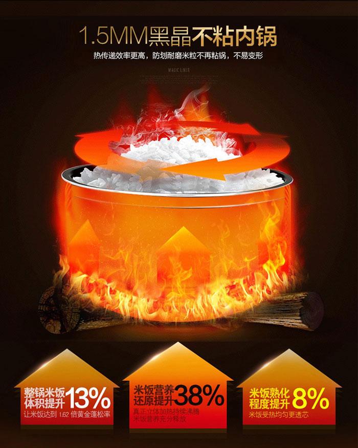 九阳jyf-50fe07 家用智能电饭煲 独特快煮模式 智能预约